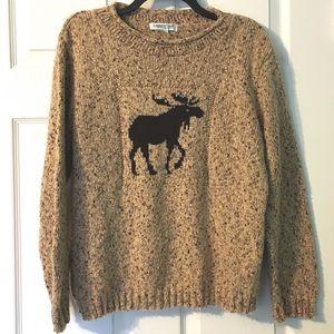 Coldwater Creek Moose Sweater Medium